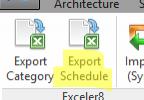 Export Schedule